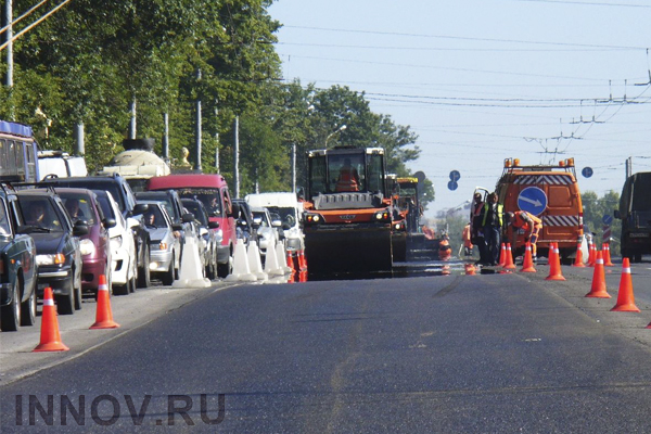 Road repairing works are 90% completed in Nizhny Novgorod, Russia